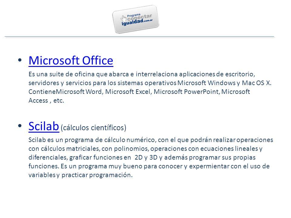 Microsoft Office Es una suite de oficina que abarca e interrelaciona aplicaciones de escritorio, servidores y servicios para los sistemas operativos Microsoft Windows y Mac OS X.
