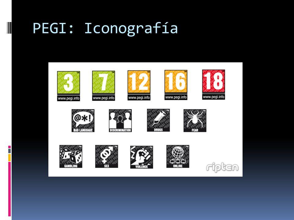 PEGI: Iconografía