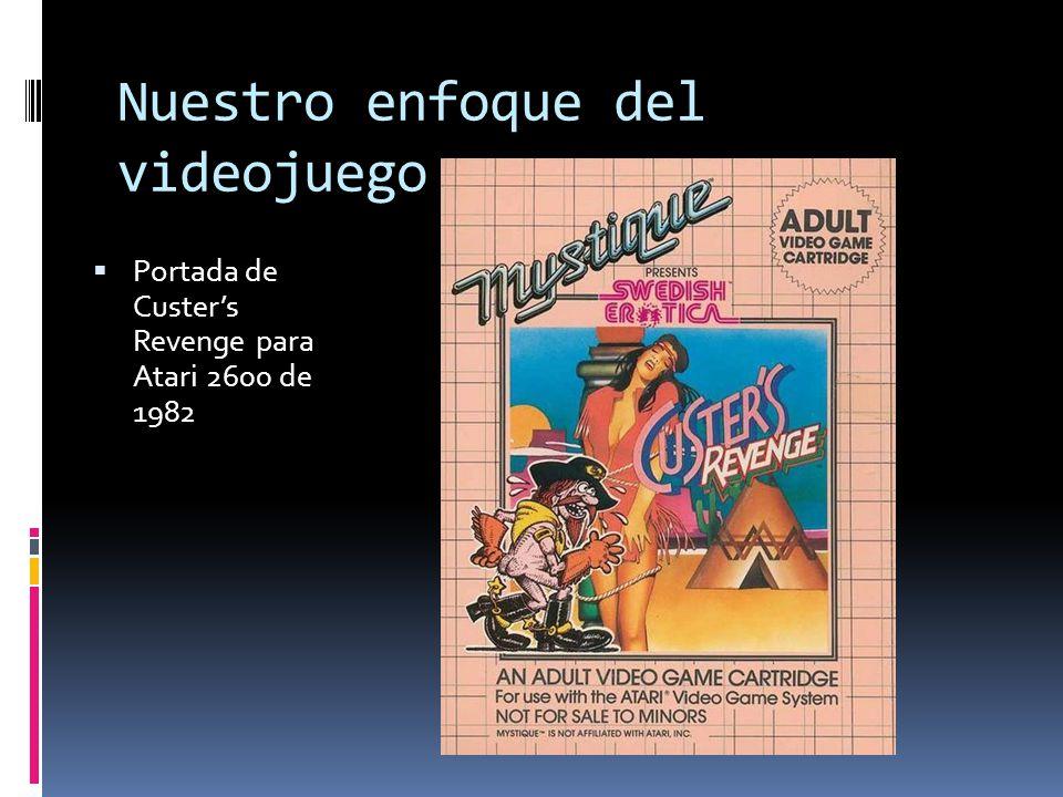 Nuestro enfoque del videojuego  Portada de Custer's Revenge para Atari 2600 de 1982