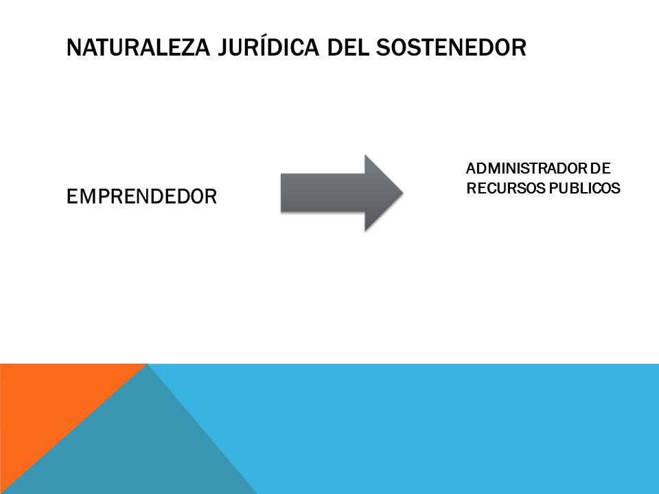 NATURALEZA JURÍDICA DEL SOSTENEDOR EMPRENDEDOR ADMINISTRADOR DE RECURSOS PUBLICOS