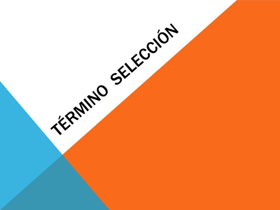 TÉRMINO SELECCIÓN
