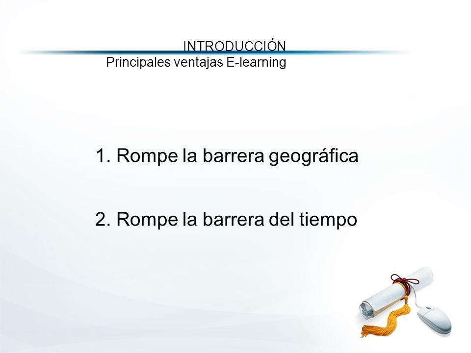 1. Rompe la barrera geográfica 2.