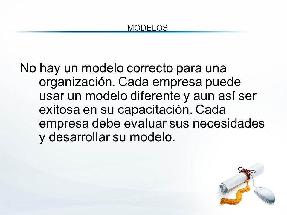 MODELOS No hay un modelo correcto para una organización.