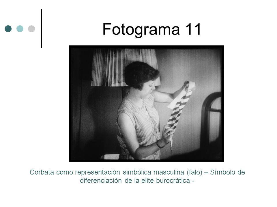 Fotograma 11 Corbata como representación simbólica masculina (falo) – Símbolo de diferenciación de la elite burocrática -