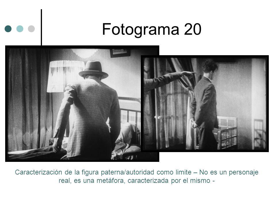 Fotograma 20 Caracterización de la figura paterna/autoridad como limite – No es un personaje real, es una metáfora, caracterizada por el mismo -