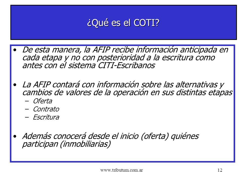 www.tributum.com.ar12 ¿Qué es el COTI.