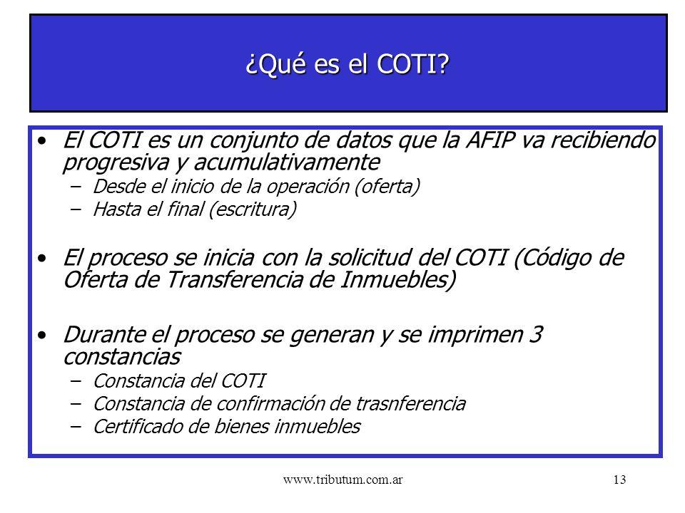 www.tributum.com.ar13 ¿Qué es el COTI.