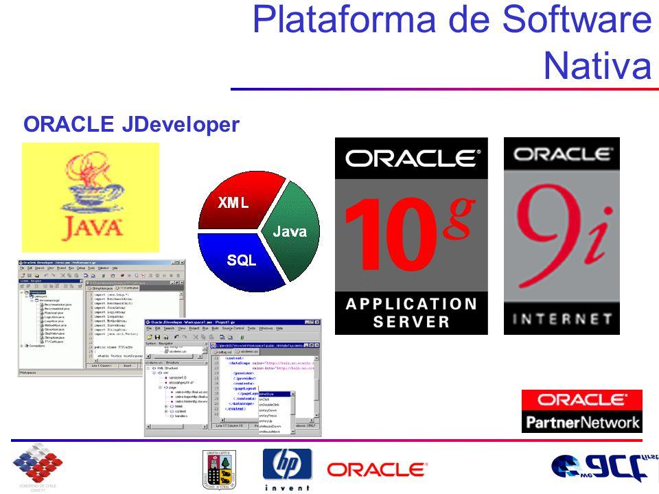 Plataforma de Software Nativa ORACLE JDeveloper