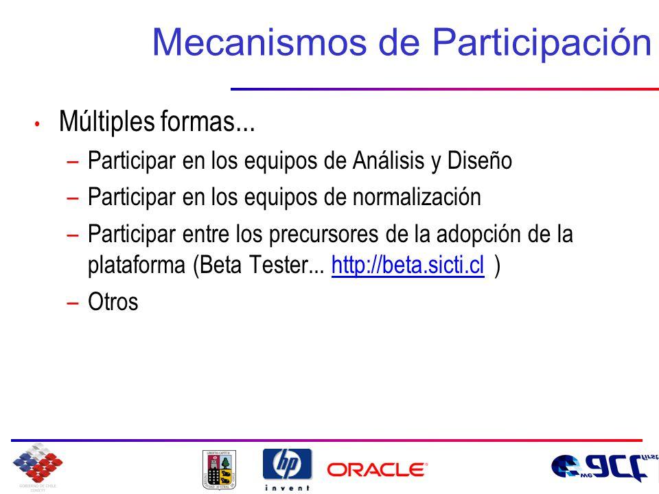 Mecanismos de Participación Múltiples formas...