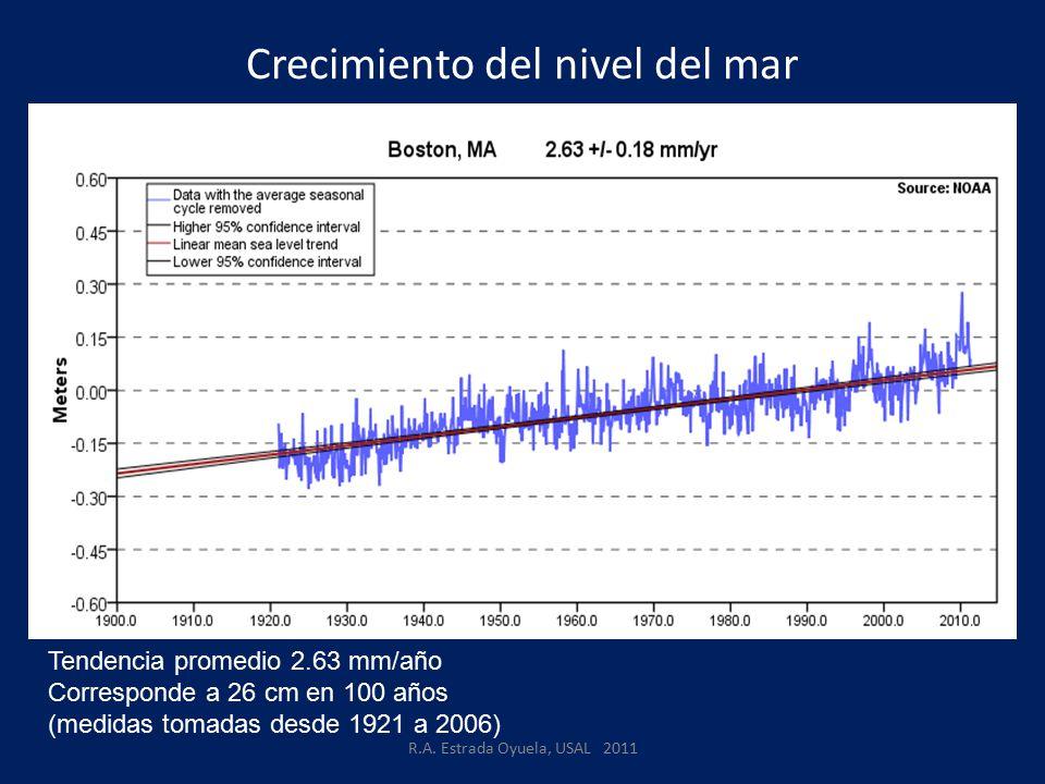 Crecimiento del nivel del mar R.A.