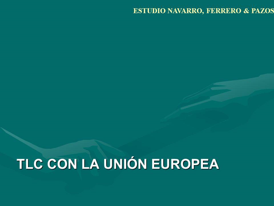 TLC CON LA UNIÓN EUROPEA ESTUDIO NAVARRO, FERRERO & PAZOS