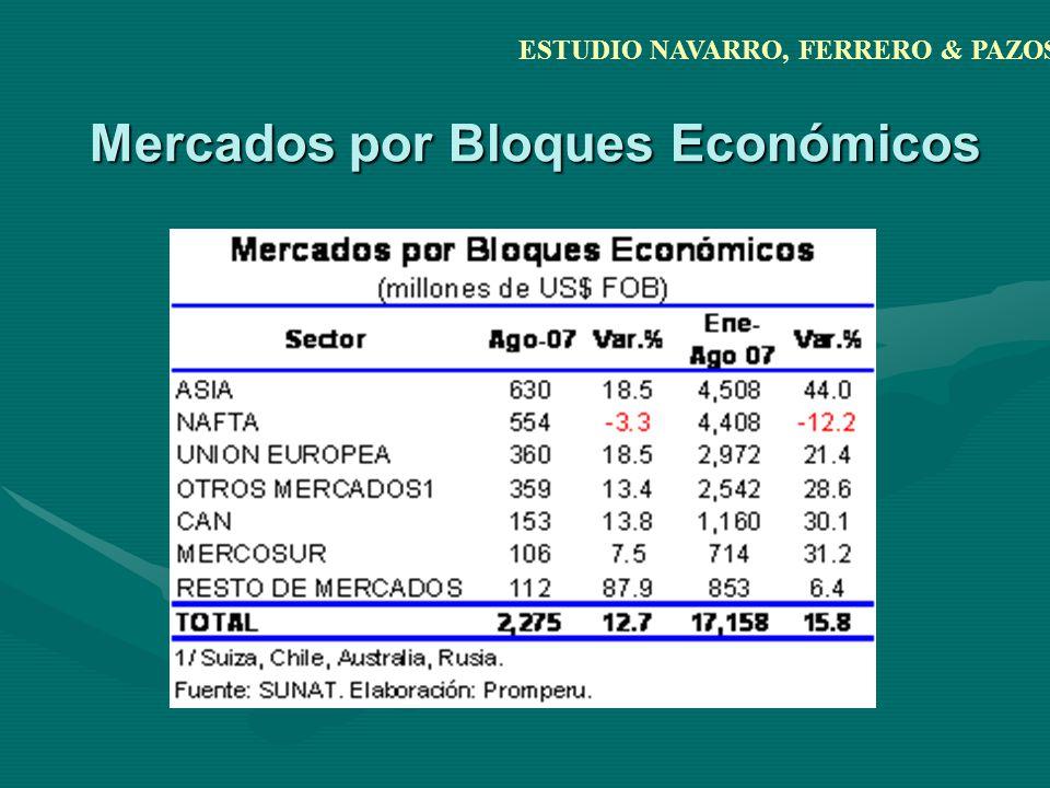 Mercados por Bloques Económicos ESTUDIO NAVARRO, FERRERO & PAZOS
