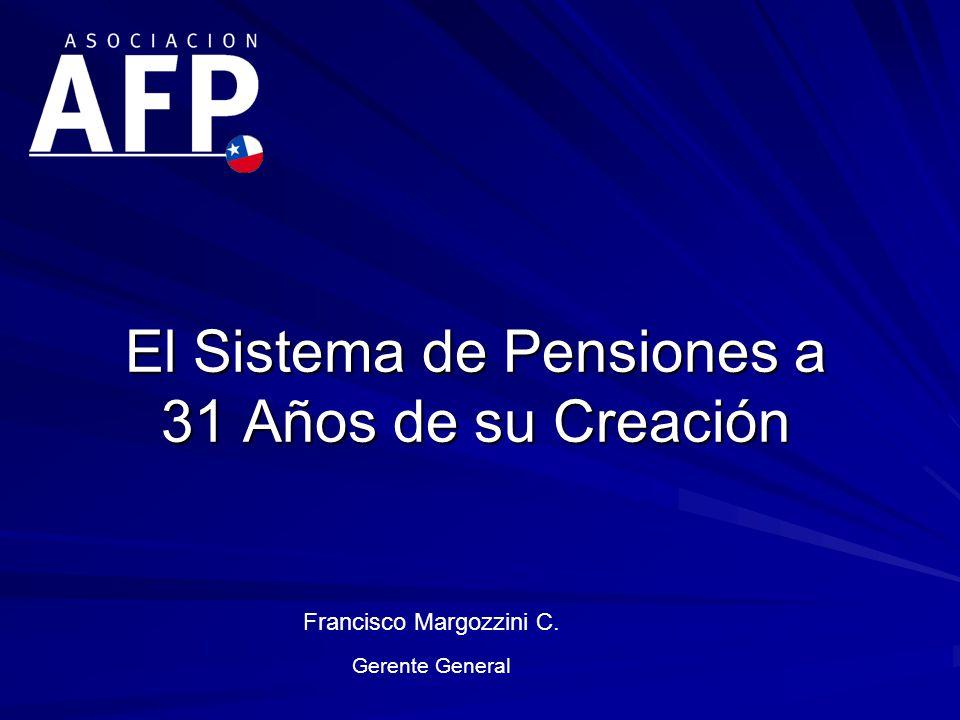 El Sistema de Pensiones a 31 Años de su Creación Francisco Margozzini C. Gerente General