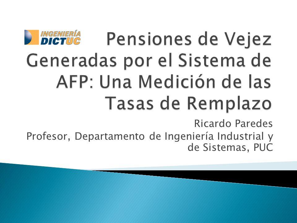 Ricardo Paredes Profesor, Departamento de Ingeniería Industrial y de Sistemas, PUC
