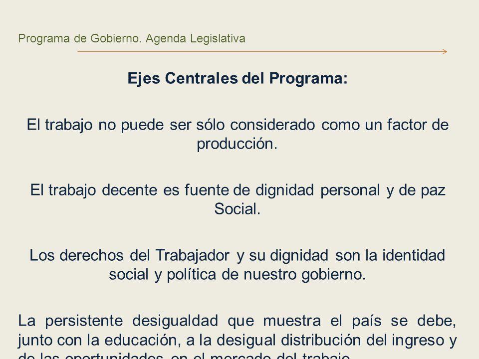 Programa de Gobierno.