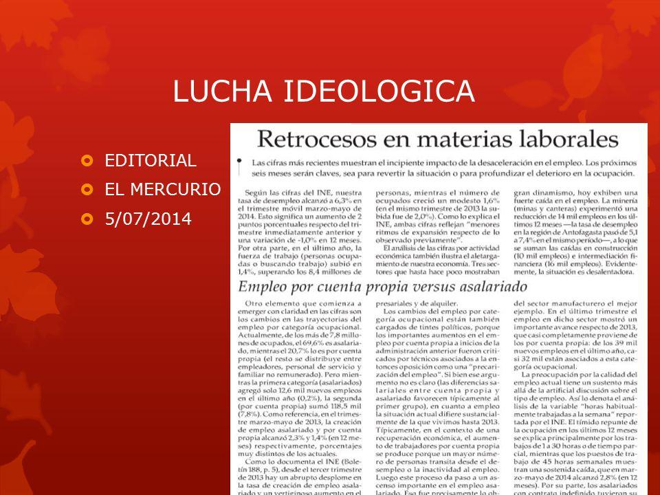 LUCHA IDEOLOGICA  EDITORIAL  EL MERCURIO  5/07/2014
