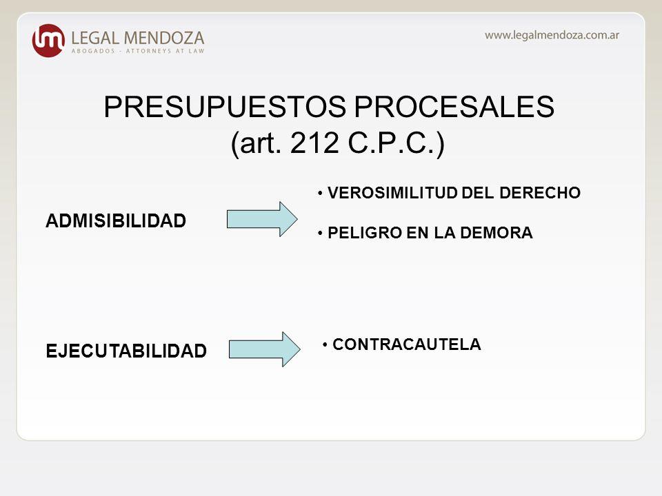 PRESUPUESTOS PROCESALES (art.