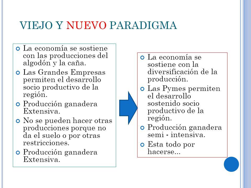 VIEJO Y NUEVO PARADIGMA La economía se sostiene con las producciones del algodón y la caña.