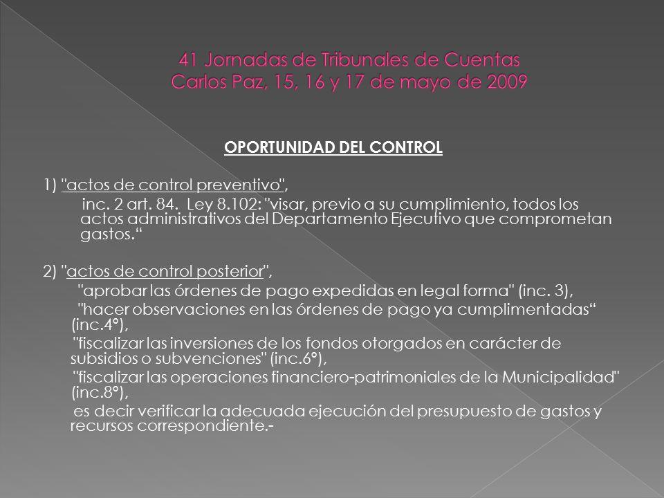 NORMATIVA A CONSIDERAR PARA EL CONTROL DE LEGALIDAD EN CADA CASO.