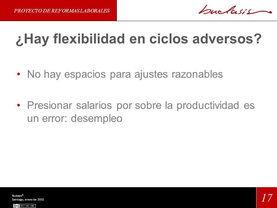 ¿Hay flexibilidad en ciclos adversos.