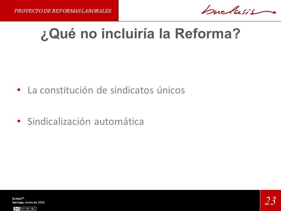 ¿Qué no incluiría la Reforma.