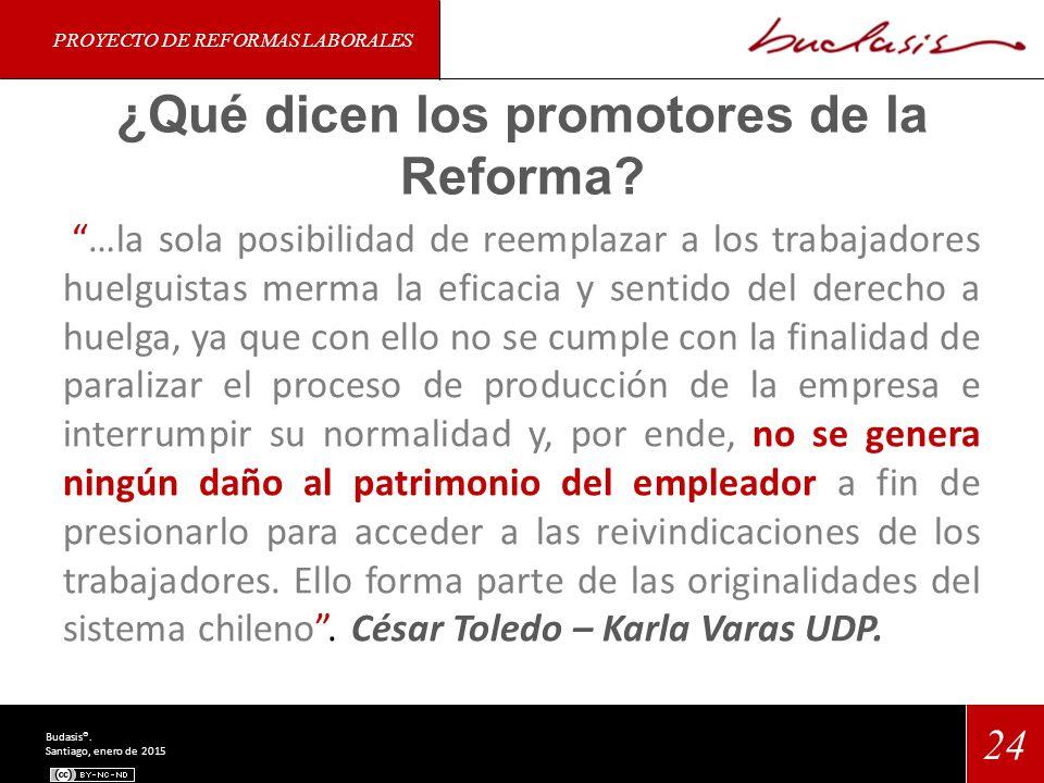 ¿Qué dicen los promotores de la Reforma.