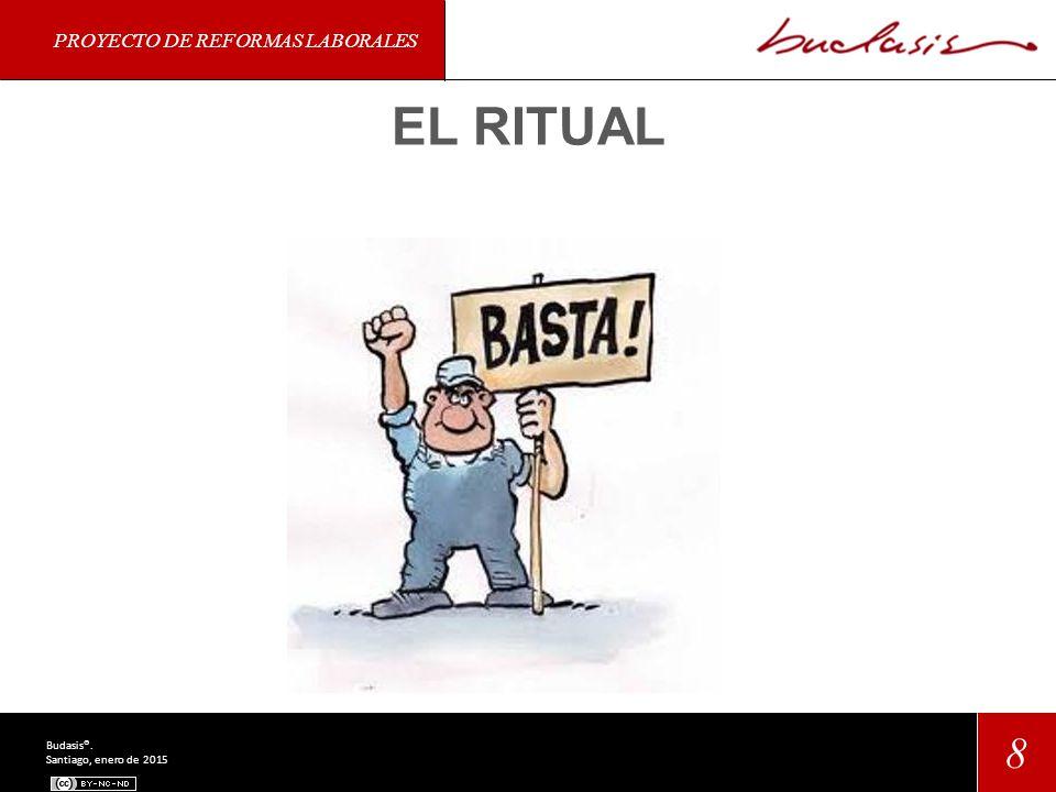 PROYECTO DE REFORMAS LABORALES 8 Budasis®. Santiago, enero de 2015 EL RITUAL
