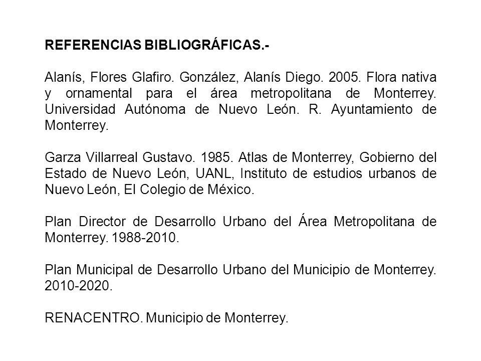 REFERENCIAS BIBLIOGRÁFICAS.- Alanís, Flores Glafiro.