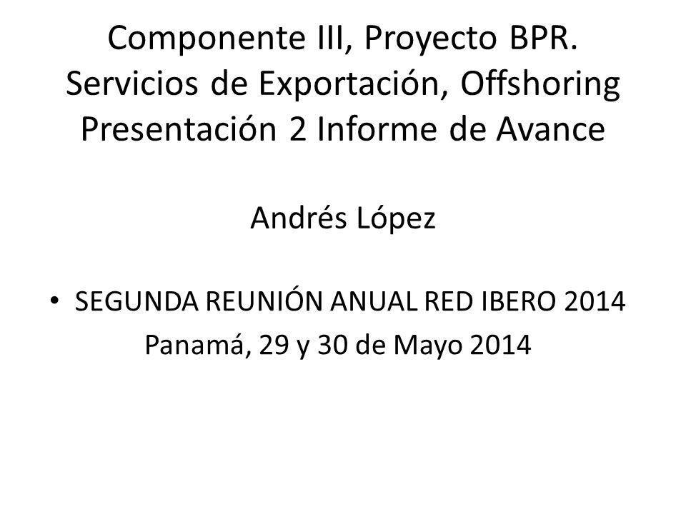 Componente III, Proyecto BPR.