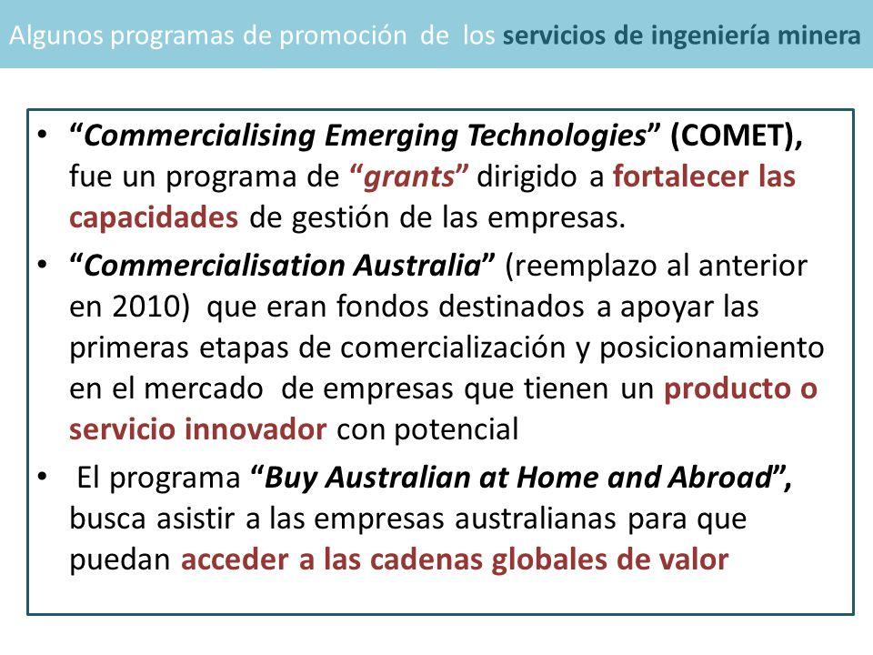 Commercialising Emerging Technologies (COMET), fue un programa de grants dirigido a fortalecer las capacidades de gestión de las empresas.