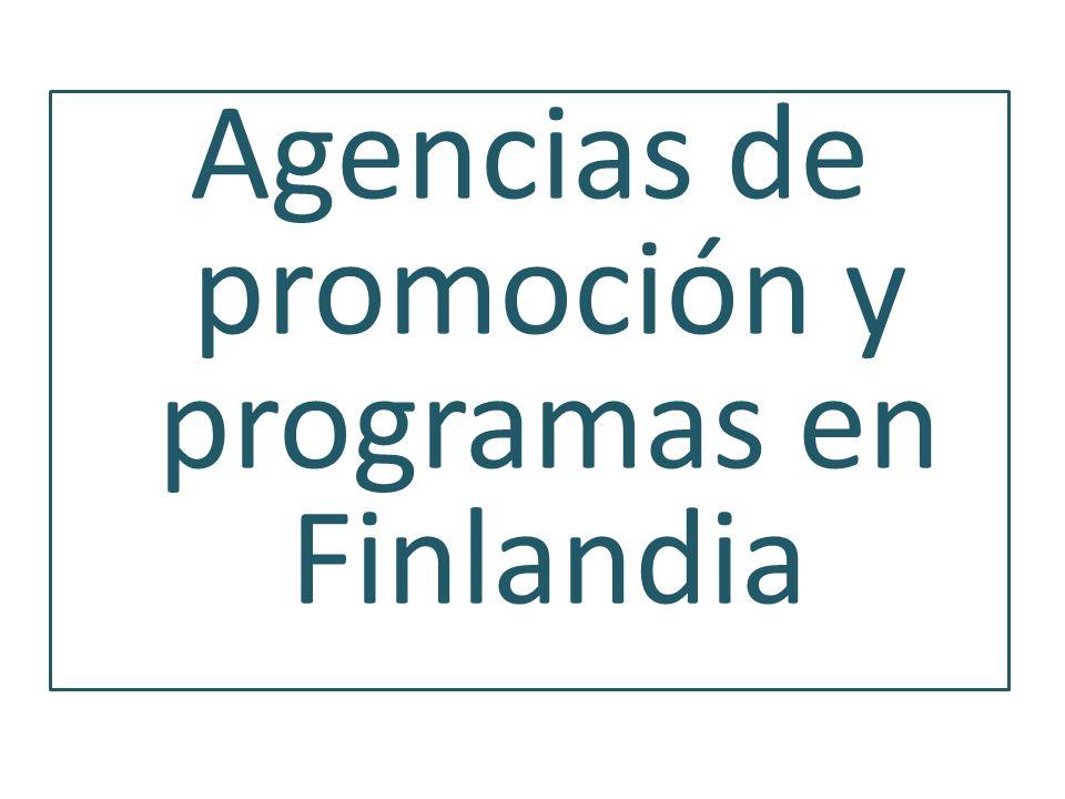Agencias de promoción y programas en Finlandia