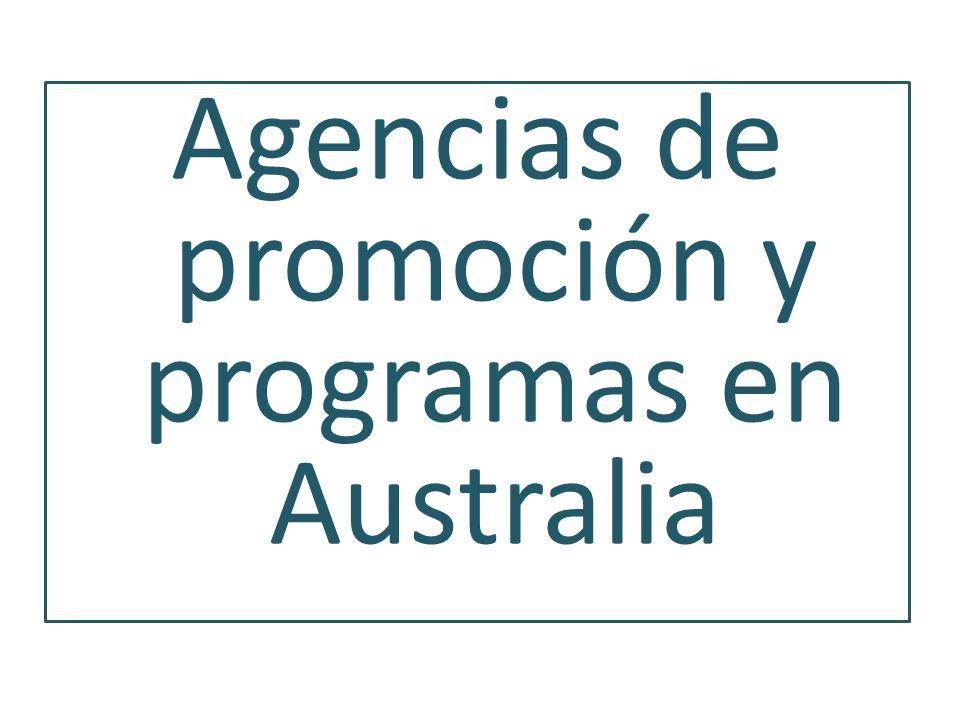 Agencias de promoción y programas en Australia