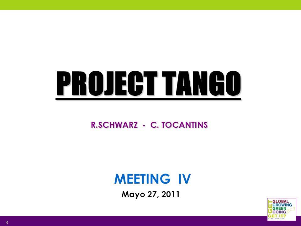 PROJECT TANGO R.SCHWARZ - C. TOCANTINS MEETING IV Mayo 27, 2011 3