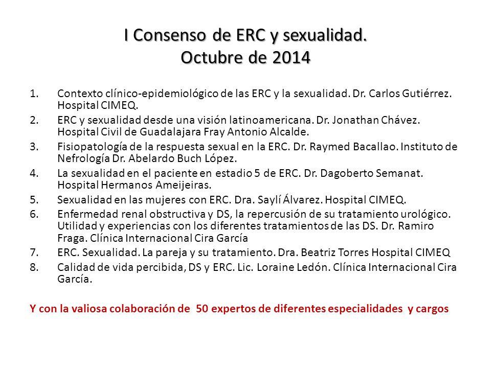 I Consenso de ERC y sexualidad.