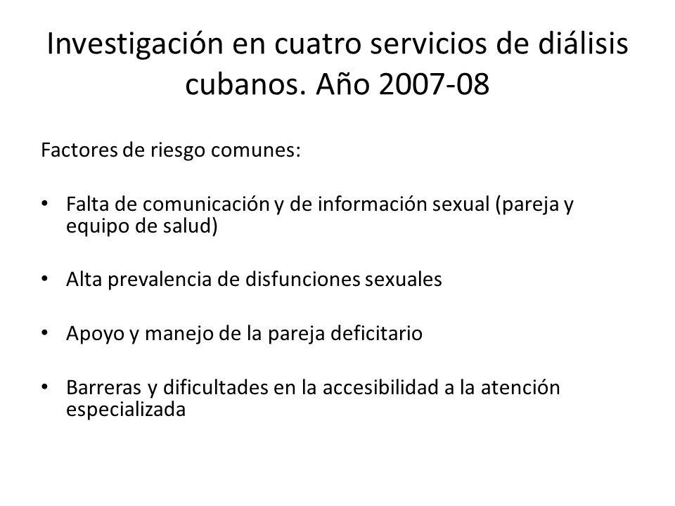 Investigación en cuatro servicios de diálisis cubanos.