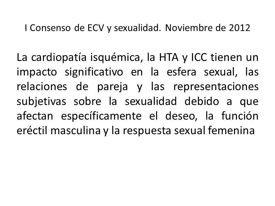 I Consenso de ECV y sexualidad.