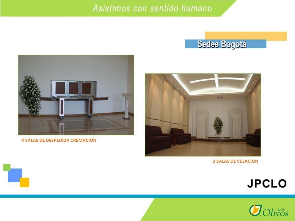 K Sedes Bogotá 3 SALAS DE VELACION 4 SALAS DE DESPEDIDA CREMACION