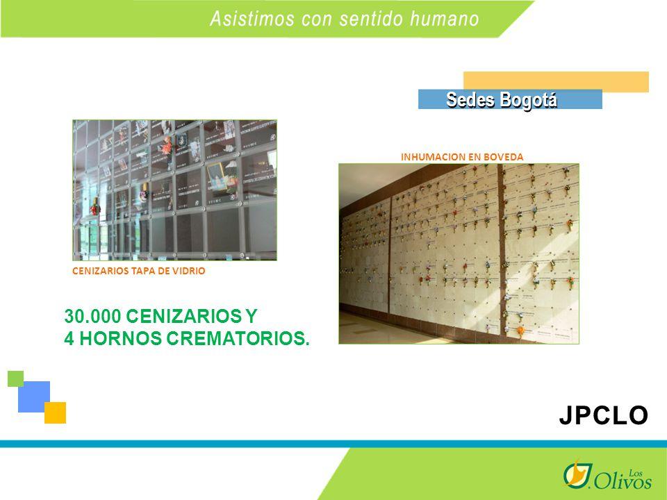 K Sedes Bogotá INHUMACION EN BOVEDA CENIZARIOS TAPA DE VIDRIO 30.000 CENIZARIOS Y 4 HORNOS CREMATORIOS.