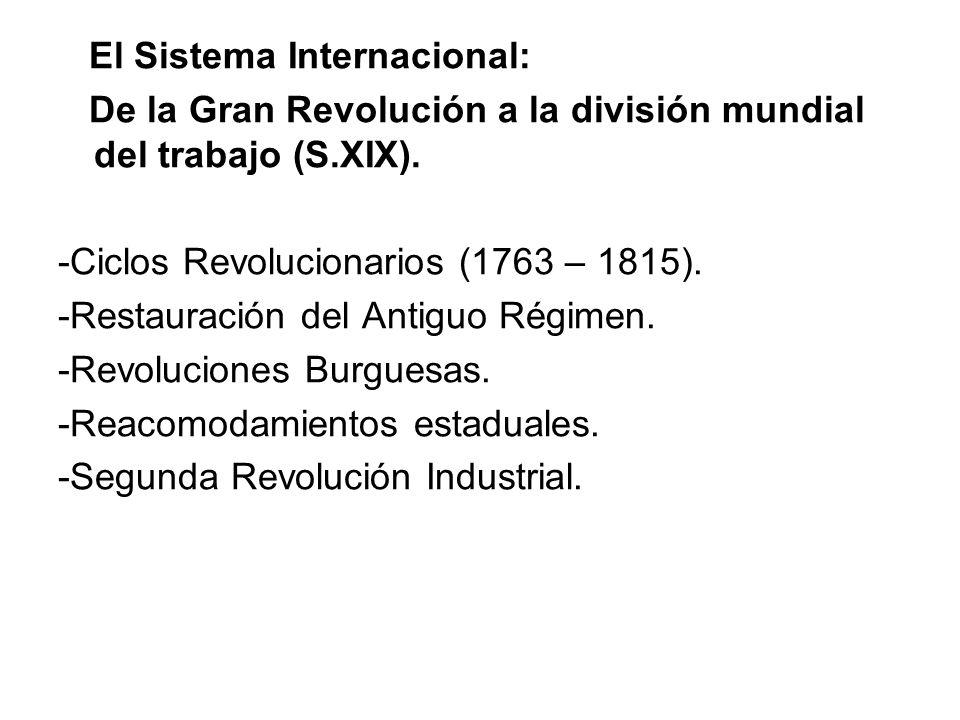 El Sistema Internacional: De la Gran Revolución a la división mundial del trabajo (S.XIX).