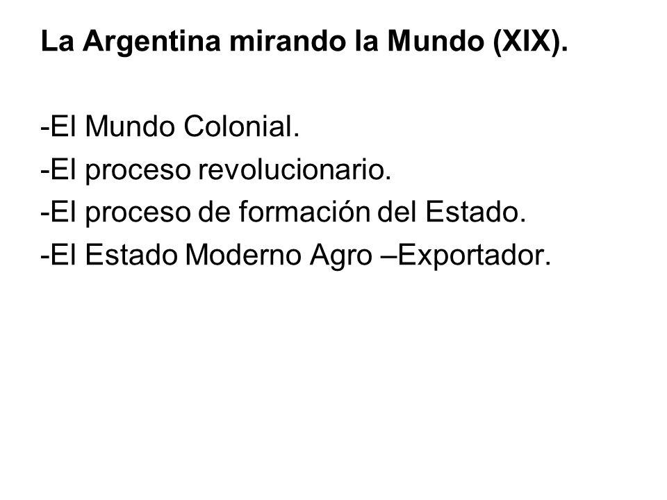 La Argentina mirando la Mundo (XIX). -El Mundo Colonial.