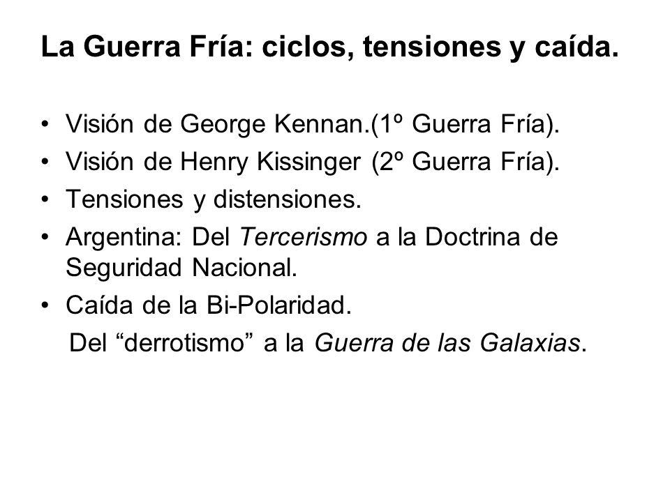 La Guerra Fría: ciclos, tensiones y caída. Visión de George Kennan.(1º Guerra Fría).
