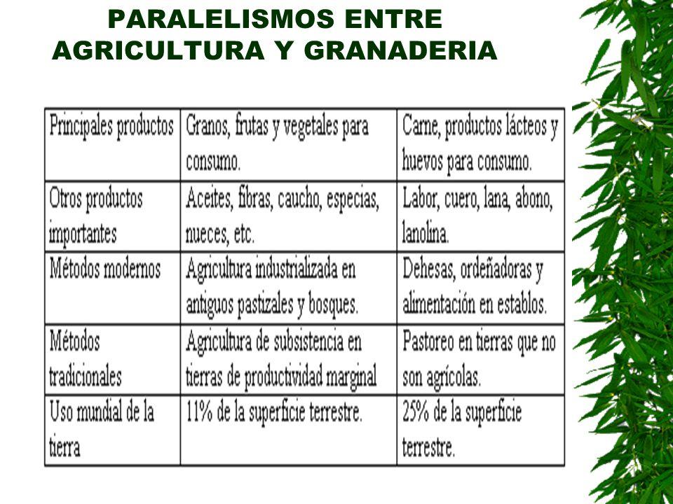 PARALELISMOS ENTRE AGRICULTURA Y GRANADERIA