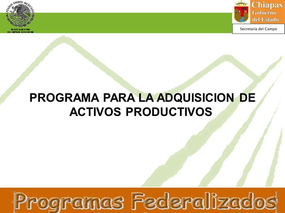 PROGRAMA PARA LA ADQUISICION DE ACTIVOS PRODUCTIVOS