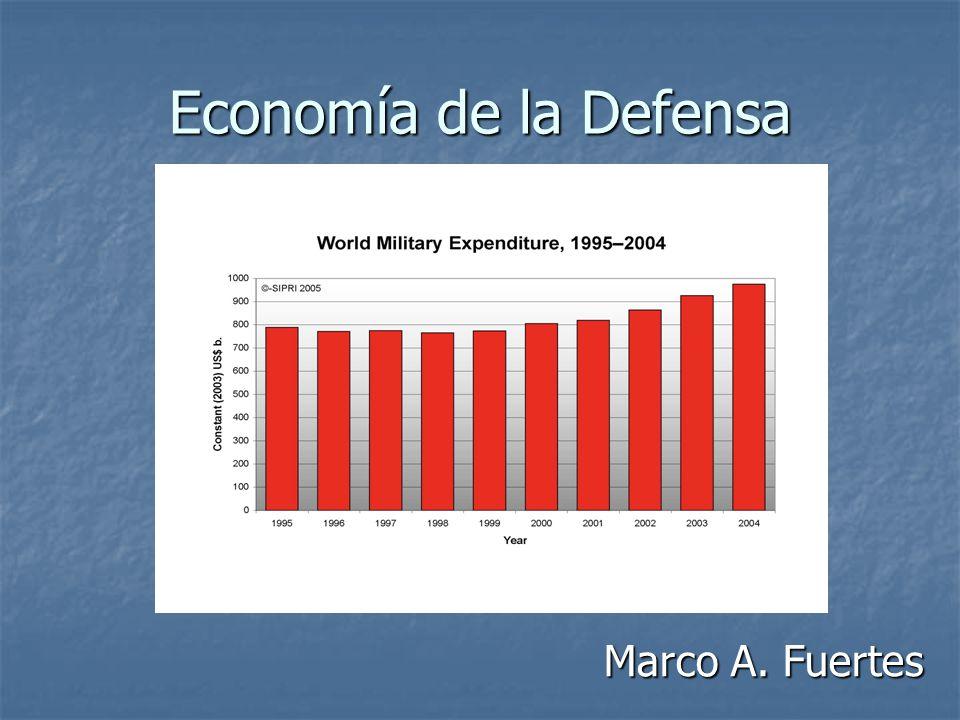 Economía de la Defensa Marco A. Fuertes