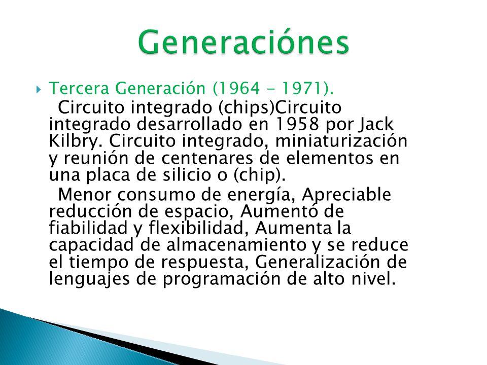  Primera Generación (1951-1958).