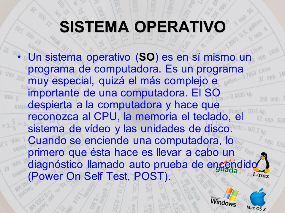 SISTEMA OPERATIVO SOUn sistema operativo (SO) es en sí mismo un programa de computadora.