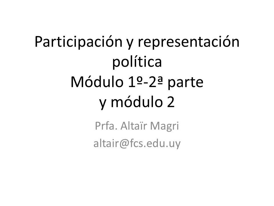 Participación y representación política Módulo 1º-2ª parte y módulo 2 Prfa.