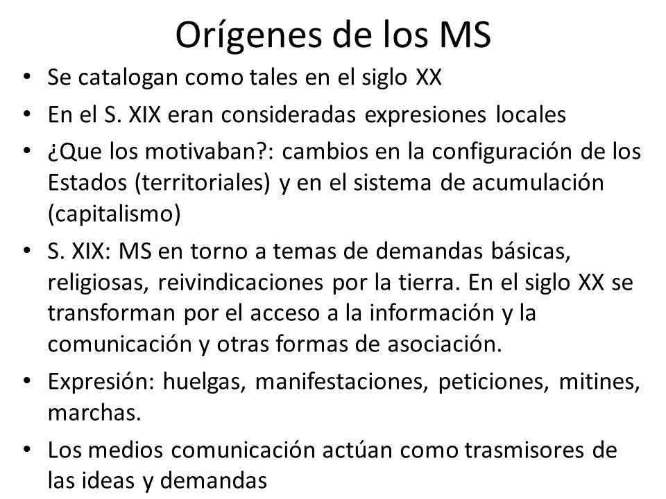 Orígenes de los MS Se catalogan como tales en el siglo XX En el S.