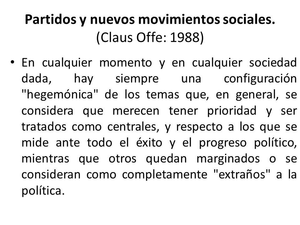 Partidos y nuevos movimientos sociales.