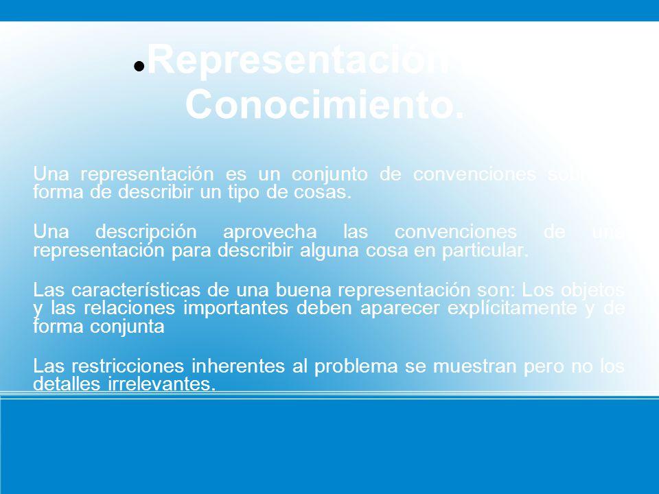 Representación del Conocimiento.